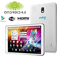 Indigi Brand New! 7 inch White Android 4.2 JB Tablet PC HDMI Dual Camera