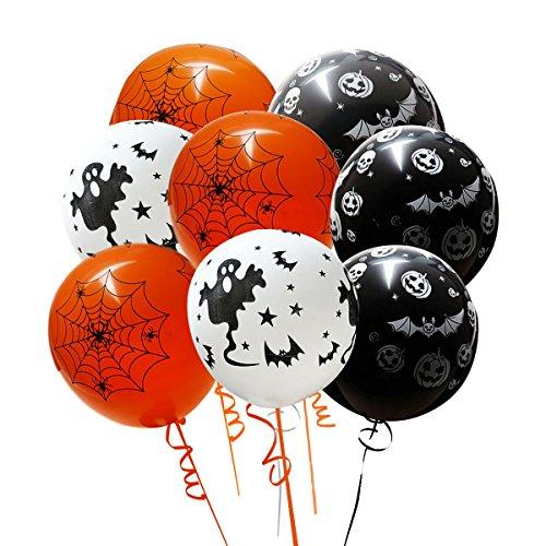 Halloween Ghoulish Balloon, SOMAN 100pcs Halloween Party Decorative Random Style (Halloween Harry Styles)