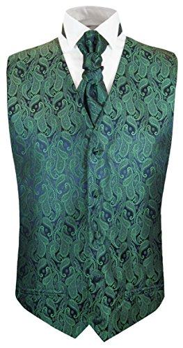 Paul Malone Emerald Green Tuxedo Vest and Cravat