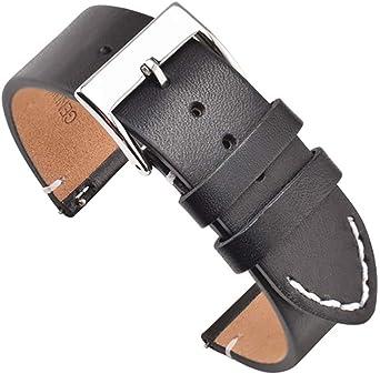 bracelet cuir noir 24mm