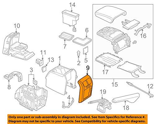 Volkswagen VW OEM 10-14 Jetta Rear Console-Trim Plate 1K0863289C95T