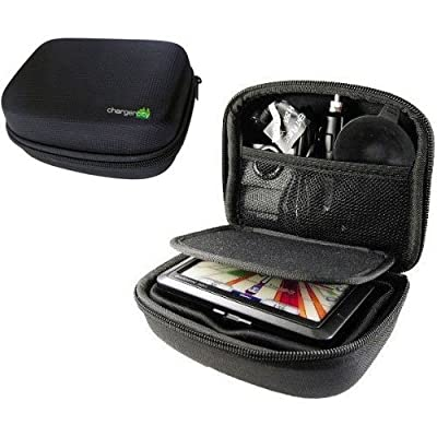 """ChargerCity Multi-Compartment Hard Case for Garmin 5"""" GPS Drive DriveSmart DriveAssist Smart Nuvi 50 51 52 54 55 56 57 58 1450 1490 2539 2555 2557 2589 2597 LM LMT GPS (BabyCam)"""