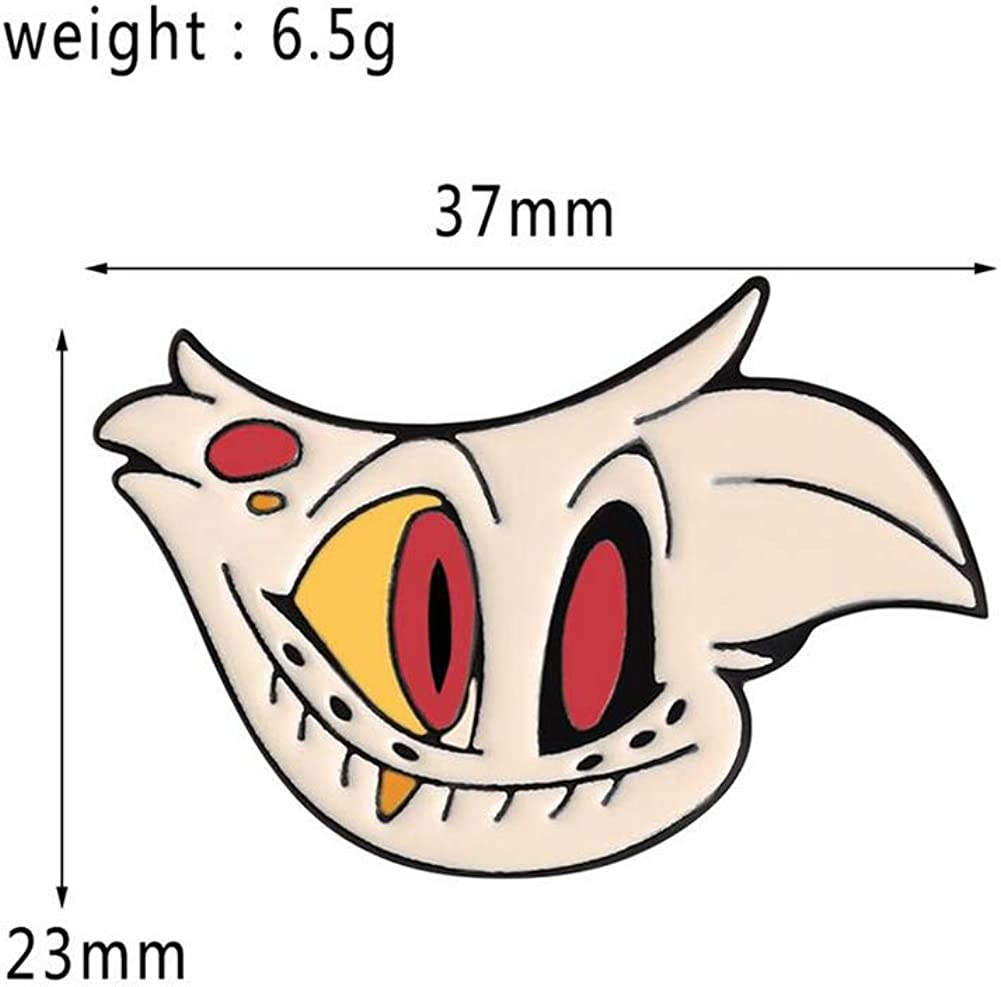 TLED Hazbin Hotel Pins Sets 5 Pack Character Lapel Pin Anime Cosplay Cartoon Alloy Brooches for Clothing Bags Backpacks Jackets Hat Accessories