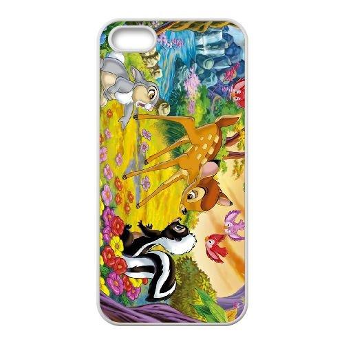 T2Q98 Bambi D3C4KF coque iPhone 5 5s cellule de cas de téléphone couvercle coque blanche RW1NOL8JW