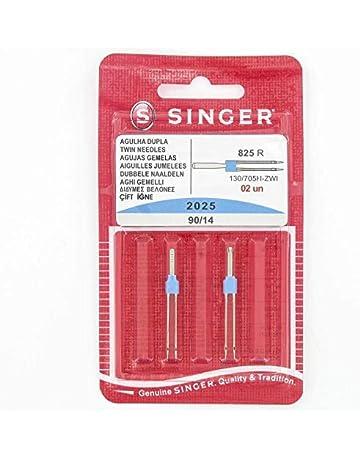 Singer - Agujas Dobles para máquina de Coser (Distancia: 3)