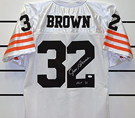 new arrivals 1869b 0cb1b Jim Brown Autographed & Inscribed Jersey at Amazon's Sports ...