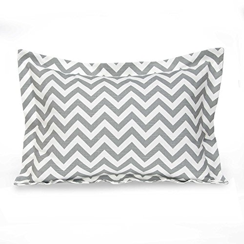 Glenna Jean Swizzle Large Pillow Sham in Grey/White by Glenna Jean