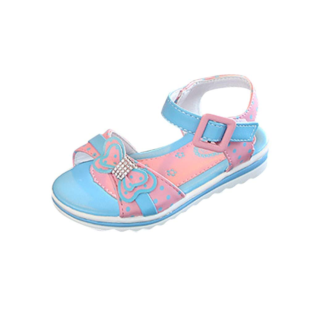 Tronet Kids Sandals Baby Boys//Girl,Children Kids Baby Girls Crystal Bowknot Sweet Princess Sandals Casual Shoes