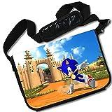 MovieWallscrolls Sonic the Hedgehog Video Game Stylish Laptop Messenger Bag (15 x 11) Inches [MB] Sonic Hedgeghog- 1