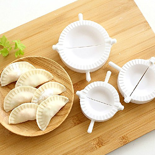WINOMO 3pcs Dough Press Pastry Dumpling Maker Mold in Different Sizes (White)