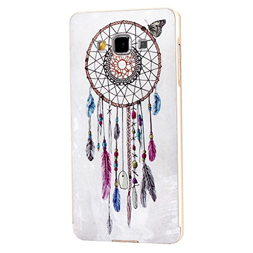 For Galaxy A5 , PpIiNnKk Fashion Dream Catcher Elegant Luxury [Aluminum Metal Bumper Frame] Hybrid With Plastic Back Skin Protective Cover Case for Samsung Galaxy A5 A500F [Gold]