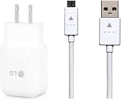 Amazon.com: LG - Cargador de pared y cable micro USB para LG ...