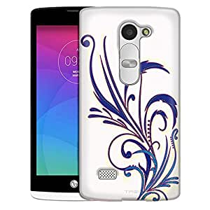 LG Tribute 2 Case, Slim Fit Snap On Cover by Trek Floral Pattern On White Case