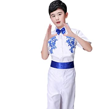 Jian E Traje de Baile - Trajes de Porcelana Azul y Blanca ...