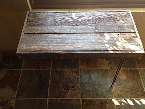 Beautiful reclaimed barn wood side table. 32