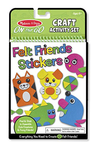 Melissa amp Doug On the Go Felt Friends Craft Activity Set With 188 Felt Stickers