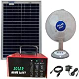 Belifal Solar Dc Fan Rechargeable Dc 12V With Mobile Charger And Solar Power Box, 20W Solar Panel And Electric Charger