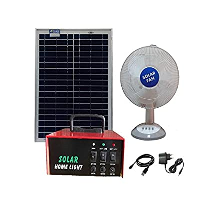 Belifal Dc Fan Rechargeable 12V with 20W Solar Panel and Electric Charger