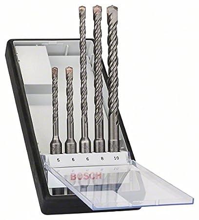 Bosch 2607019928 Assortiment de forets SDS-plus-5 pour perforateur /Ã/˜ 6//6//8//8//10 mm 5 pi/Ã/¨ces