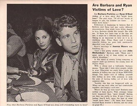 Barbara Parkins Ryan O'Neal Clipping Magazine Photo orig 1pg 6x7