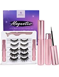 Magnetic Eyeliner and Lashes Kit, Magnetic Eyeliner for Magnetic Lashes Set, With Reusable Lashes [5 Pairs]