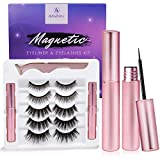 Magnetic Eyeliner and Eyelashes Kit, Magnetic Eyeliner for Magnetic Eyelashes Set, With Reusable Lashes [5 Pairs]: more info
