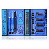 Kingsdun 38 in 1 Precision Multi Screwdriver Set,Phillips Triwing Torx Star Hexagon Screwdriver Tool Set with Small Case for Apple Iphone,Macbook,PC, & Other Electronic Repairs