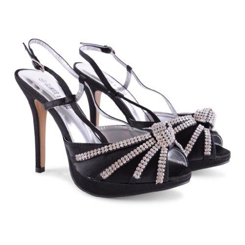 de Sensation mujer negro sintético negro Footwear destalonados Zapatos tfwqxFFO