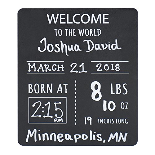 (Baby Announcement Chalkboard Sign.