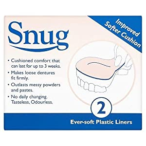 Snug Denture Cushions With Ever Soft Plastic Liner - 2 Improved Softer Cushions by Snug