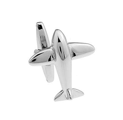 SAMGU Regalo Pequeños aviones mancuernas de los hombres puño de la camisa: Amazon.es: Joyería