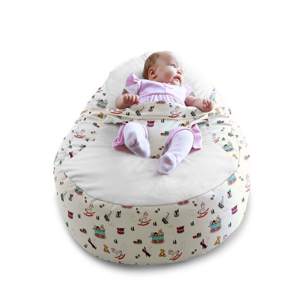 Belle & Boo Toy Box Gaga+ - Puf para bebé: Amazon.es: Bebé