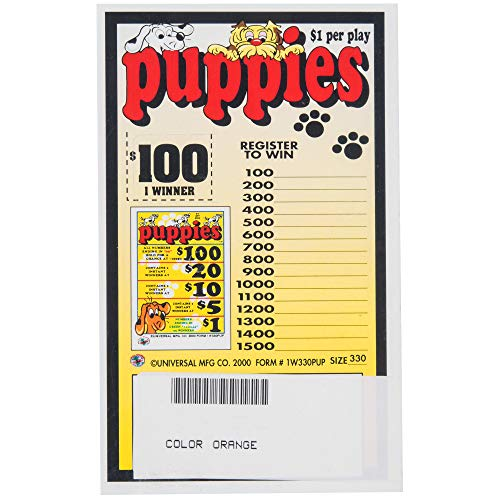 Puppies 1 Window Pull Tab Tickets - 330 Tickets Per Deal - Total Payout: $235 ()