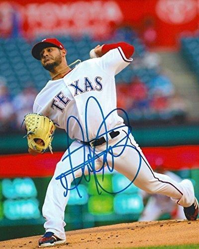 Martin Perez Autographed Photo - 8x10 COA E - Autographed MLB Photos