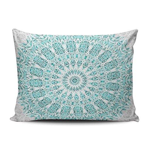 - Lerana Hot Plush Fashion Design One Side Print 12x16 Inches Boudoir Pillowcase Green Glittering Mandala Throw Pillow Case Decorative Home Decor Aqua Mint Turquoise Cushion Cover