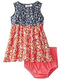 Baby Baby Girls' Floral Printed Chiffon Dress