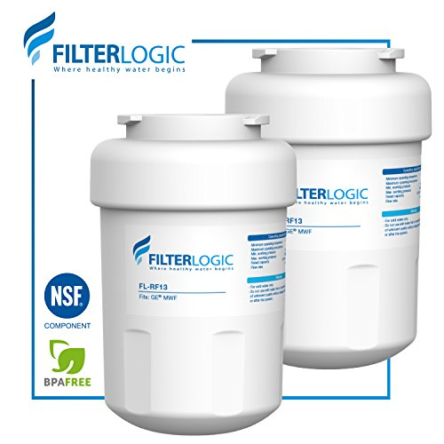 FilterLogic MWF Refrigerator Water Filter Replacement for GE MWF SmartWater, MWFA, MWFP, GWF, GWFA, Kenmore 9991, 46-9991, 469991 (Pack of 2)