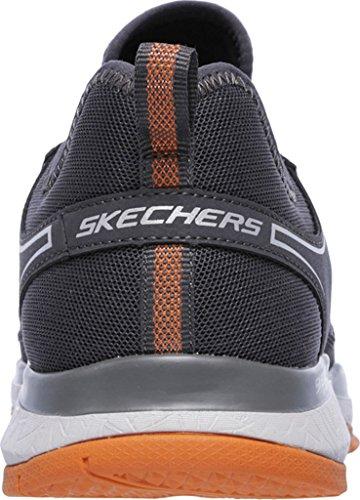 Skechers Hommes Sport Hommes Éclatent Sneaker Tr Charbon / Orange