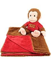 Curious George Cuddle Bundles-Super Soft, Machine Washable Blanket and Curious George Plush Toy-Great for Kids All Ages