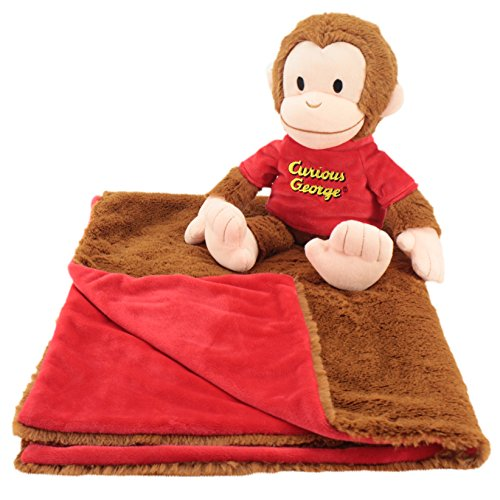 Animal Adventure | Cuddle Bundles | Curious George | Super-Soft Machine Washable Blankie & Plush Toy -