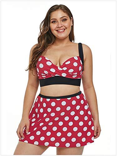 Resort La m Split Plus Taille Imprimé Collectif Bikini Des xl Femmes Spa Uiop Bain red De xxxl Maillot Jupe Sexy zvFn1aqw7