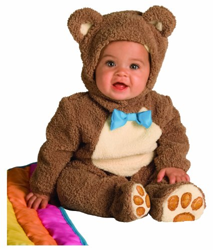 Rubie's Costume Infant Noah Ark Collection Oatmeal Bear Jumpsuit, Brown/Beige, 12-18 Months