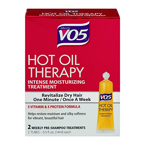 Alberto Vo5 Hot Oil Intense Conditioning Treatment, 0.5 Ounce, 2-count Tubes (Pack of 3) (Best Hot Oil Treatment For Dry Scalp)