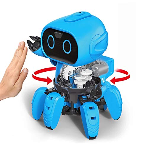 Hi-Tech First STEM Robot Kits DIY Mechanical Robot Building Set for Boys, Girls, Kids, Children (Gesture Sensing Edition) -