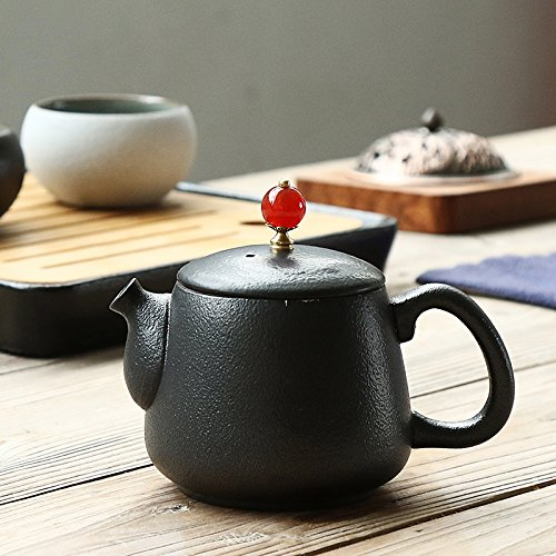 (CLG-FLY Innovation matching agate antique stoneware teapot pot knob pot,2)