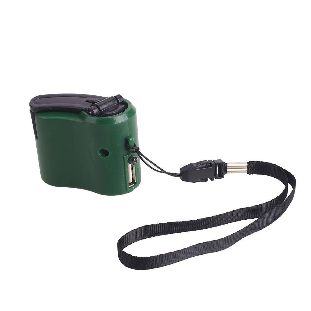 Haihuic Générateur portatif de chargeur de dynamo d'urgence de manivelle d'USB pour Téléphone portable Mobile