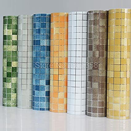 Merveilleux Bathroom Wall Stickers Pvc Mosaic Wallpaper Kitchen Waterproof Tile Stickers  Plastic Vinyl Self Adhesive Wall Papers