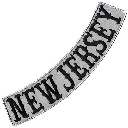 New Jersey Reflective Embroidered Decorative Patch Biker Jacket Low Rocker 13