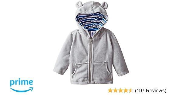 24e9a43f7 Amazon.com  Gerber Baby Boys  Hooded Micro Fleece Jacket