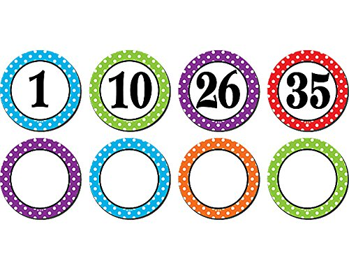 Polka Dot Numbers Magnetic Accents